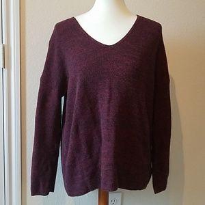 H&M Conscious Maroon Tunic Sweater